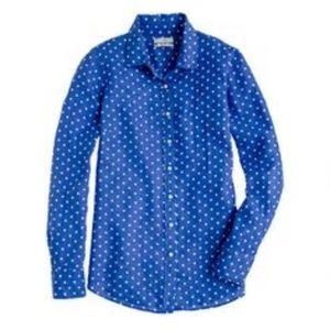 JCrew Polka Dot Button Down Linen Perfect Shirt(4)